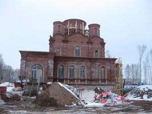 Строящийся храм в городе Благовещенске